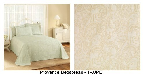 Read About Stylemaster Provence King Matelasse Bedspread, Taupe