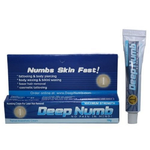 10g deep numb 5 anesthetic skin numbing cream numb tattoo for Lidocaine for tattoos