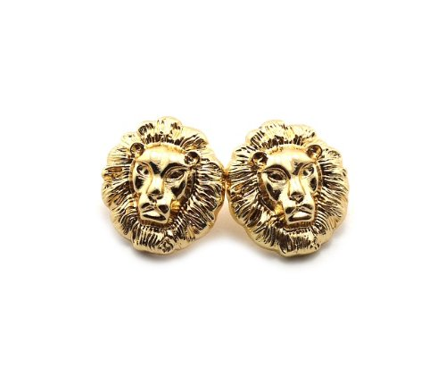 New Rihanna Gold Small Lion Head Pierce Earrings EMQ156G