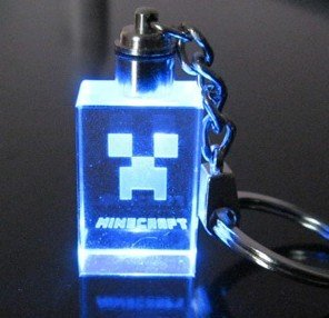 Minecraft Creeper Led 7 Color Light Keychain Keyring Cool Square by Minecraft Creeper