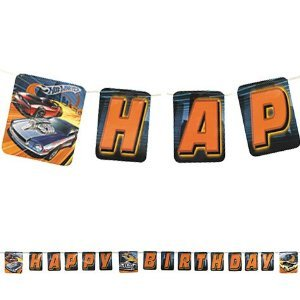 Hot Wheels Happy Birthday Kid's Birthday Party High Speed Letter Banner 8ft - 1