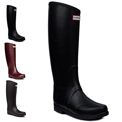 Womens Hunter Sandhurst Nylon Lacquer Rain Wellington Festival Winter Boots