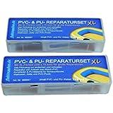 2er-Pack PVC und PU Reparaturset XL, Flickzeug für Schlauchboot Zelt Pool Gewebe Planen Vinyl PVC PU (Polyurethan)