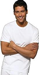 Hanes Classic Mens White Crew Neck T-Shirt P6_White_Large