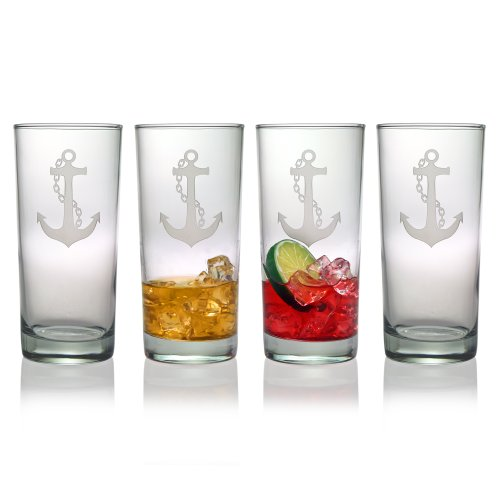 Susquehanna Glass Anchor Hiball Glasses, Set of 4