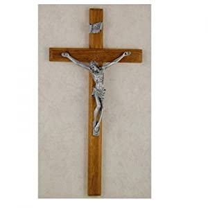 10 Beveled Walnut Crucifix""