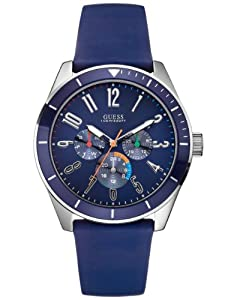 Buy Guess Water Pro Navy Blue Silicone Cronograph Dial Watch U95138G6 by GUESS