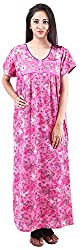 Milan Collection Women's Printed Dressing Gowns & Kimonos (MC-153_40, Pink, Size - 40)