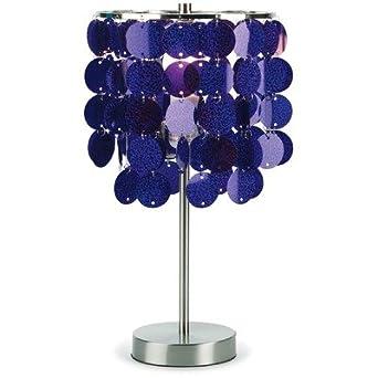 Bundle-14 Purple Paillette Table Lamp (2 Pieces)