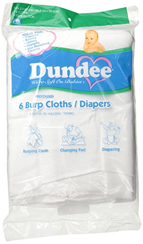 Dundee Burp Cloths/Diapers, White (Dundee Burp Cloth compare prices)