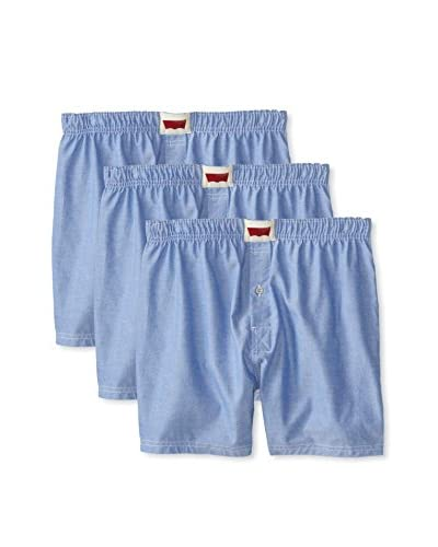 Levi's Men's Oxford Woven Boxer – 3 Pack
