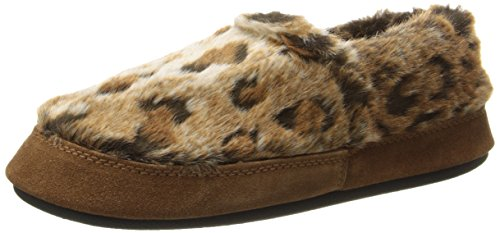 ACORN Women's Moc Slip-On Loafer, Rust Ocelot,