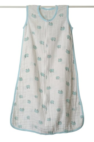 aden + anais Classic Muslin Sleeping Bag, Elephant, Large