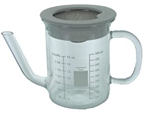 Catamount Glassware 2-Cup Gravy Separator with Strainer by Catamount