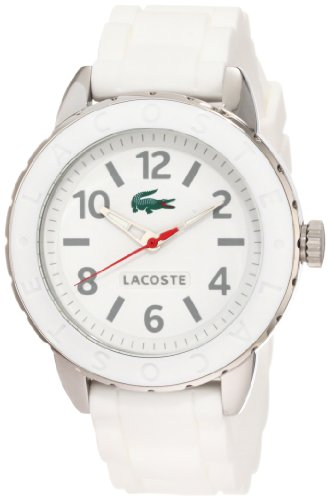 LACOSTE 2000689 UNISEX WHITE RUBBER STAINLESS STEEL CASE WATCH