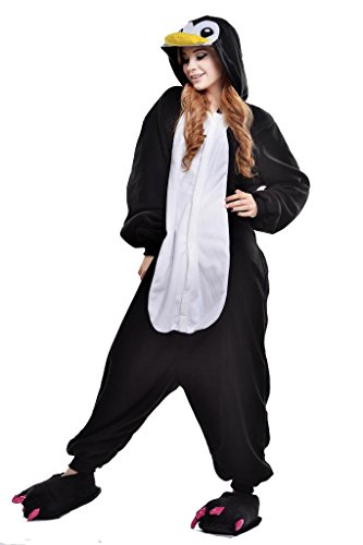 Newcosplay Unisex Penguin Pyjamas Kigurumi Cosplay Onesie Dress (M)