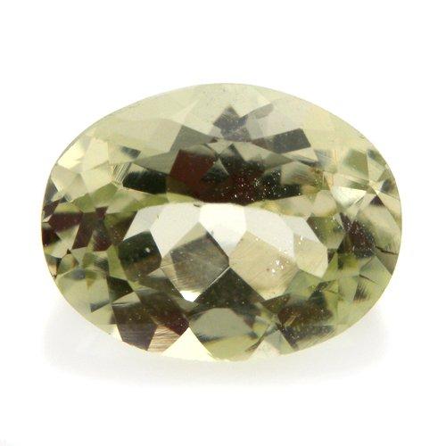 Natural Yellow Beryl Loose Gemstone Oval Cut 1.30cts 8*6mm VS Grade Marvelous
