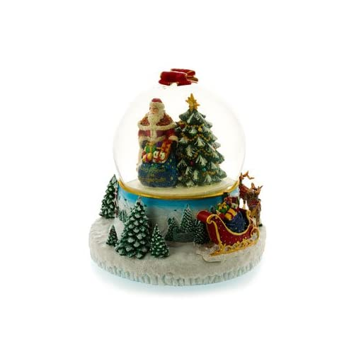 Radko 25th Anniversay Collectors Musical Oh Christmas TreeSnow Globe