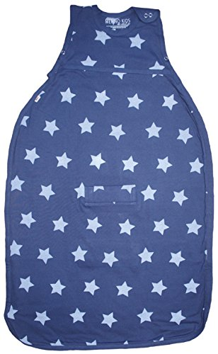 Merino Kids Starry Nights Baby Sleep Sack For Babies 0-2 Years, Midnight Blue