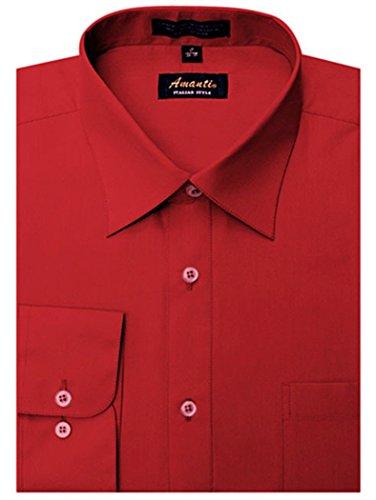 Amanti-Mens-Classic-Dress-Shirt-Convertible-Cuff-Solid