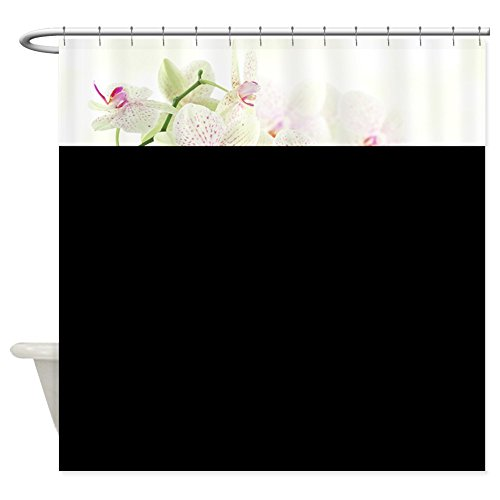 CafePress - White Orchids - Decorative Fabric Shower Curtain (Cafe Press Orchid Shower Curtain compare prices)