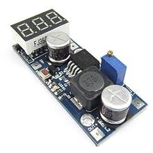 RioRand LM2587 4.5-28V to 4.5-30V DC Converters Step Up Module Power Regulated Red LED Volt Meter