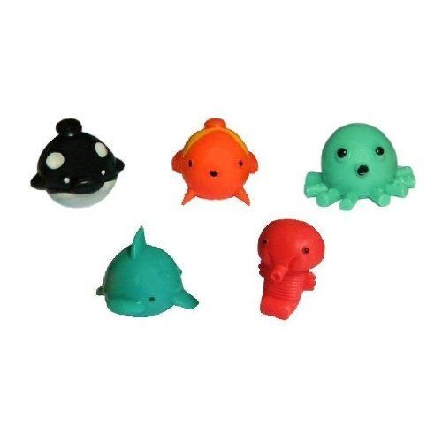 Giant Squishy Toys : SEA MANIA 1- Complete Set of 5 Squishies W/ GAME CODES FOR SQWISHLAND WEBSITE Toys
