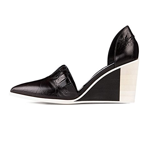 Acne Studios Amira Black Wedge Sandal