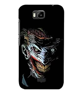 printtech Joker Gotham Art Scary Back Case Cover for Huawei Honor Bee::Huawei Y 5C