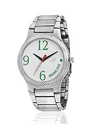 Yepme Men's Chain Watch - White/Silver -- YPMWATCH2686