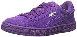 PUMA Suede JR Sneaker (Little Kid/Big Kid) , Imperial Purple/Imperial Purple, 3 M US Little Kid
