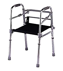 KosmoCare Premium Imported Light weight Aluminum Height Adjustable Walker with seat