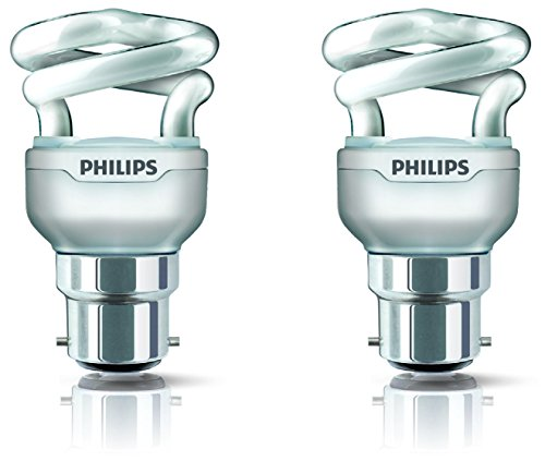 Tornado 5 Watt CFL Bulb (Warm White,Pack of 2)