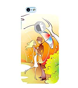 Vizagbeats Couple Back Case Cover for Apple iPhone 6 logo cut