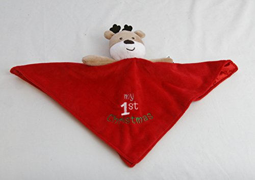 Baby's My First Christmas Plush Reindeer Snuggle Buddy Blanket Rattle (Baby Starters Lovey compare prices)