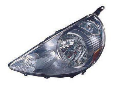 Driver Side Headlight Honda Fit Head Light Lens And Housing; Code Nh642M Storm Silver Metallic