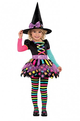 Childrens Miss Matched Witch Costume Fancy Dress