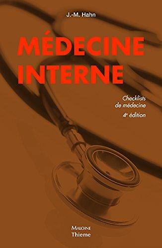 Médecine interne, checklist