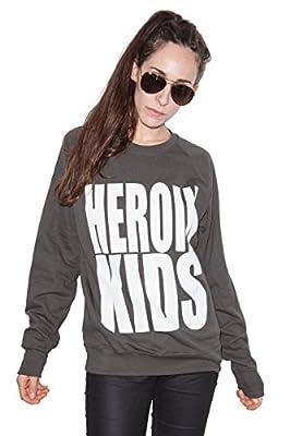 Heroin Kids Designer LOGO Statement DOPE Chic Sweatshirt