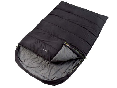 Outwell Roadtrip Luxury Double Sleeping Bag - Black - 2 Season