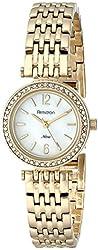 Armitron Women's 75/5229MPGP Swarovski Crystal-Accented Gold-Tone Bracelet Watch