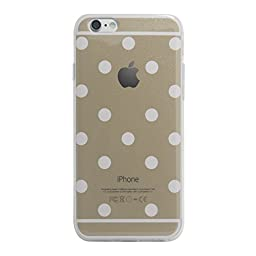 Superstart Gold Cute Polka Dot Soft TPU Rubber Case for iPhone 5/5s Ultra Thin Clear Scrath Resistant Case