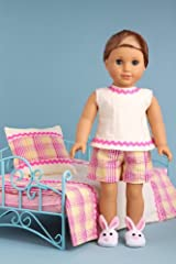 Sweet Dreams - Bedding and pajama 5 pieces gift set - American Girl Doll Clothes