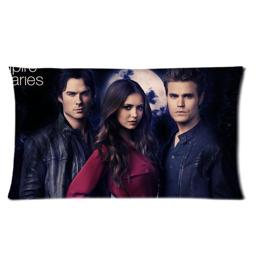 Custom Pillow Cases The Vampire Series Love Triangle Damon Elena Pillowcases Pillowslip Twin Sheets Sheets On Sale Pillow Cottom Standard Size 20x30 Inch pillow 113548