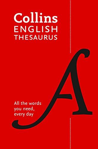 Collins English Thesaurus: Paperback edition