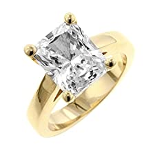 buy J Goodin Cubic Zirconia Radiant Solitaire Ring Size 6