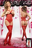 Luv Lace Cupless/crotchless Teddy Red S/m Picture