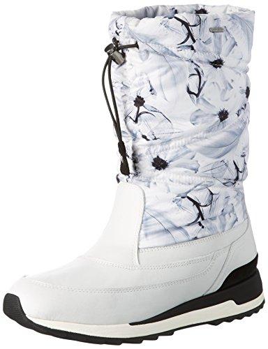 Geox D Aneko B Abx C, Stivali da Neve Donna, Bianco (WHITEC1000), 39 EU