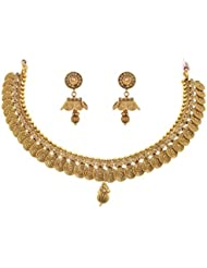 JFL - Stunning Designer One Gram Gold Plated Necklace / Jewellery Set For Girl & Women