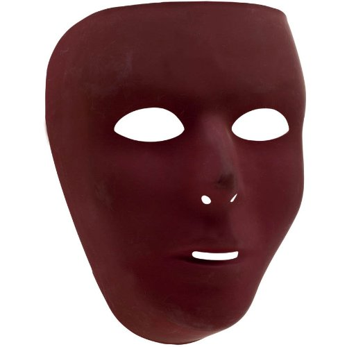 mask full face burgundy - 1